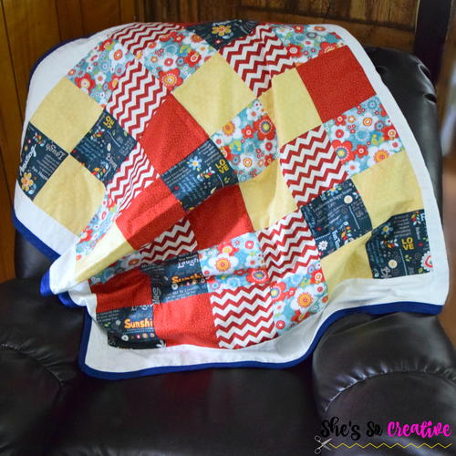 Fat Quarter Patchwork Beginner Quilt