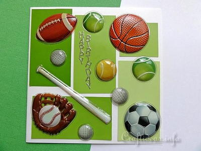 Ball Sports DIY Birthday Card for Kids