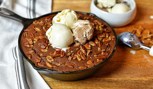 Ghirardelli Double Chocolate Skillet Brownie