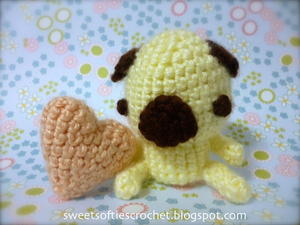 Petey Pug Puppy Amigurumi Animal Toy