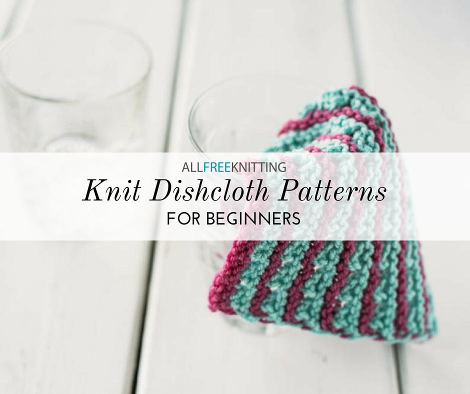 12 Knit Dishcloth Patterns for Beginners   AllFreeKnitting.com