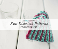 c68d685d647c3 12 Knit Dishcloth Patterns for Beginners. Find even more ...
