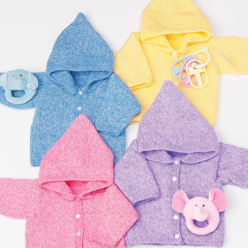 Baby Hoodie Knitting Pattern |