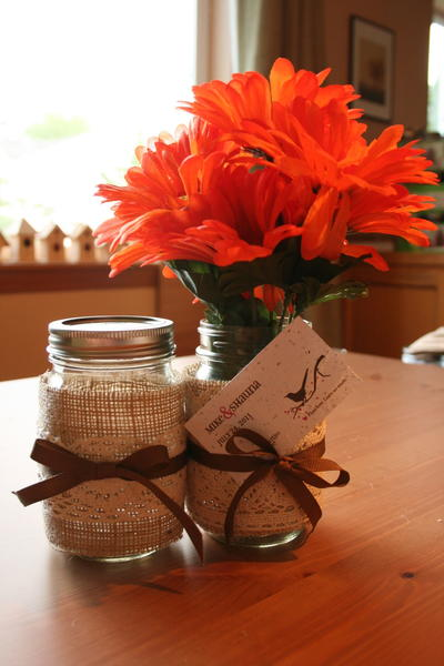 Burlap and Lace DIY Table Decor