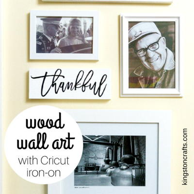 Wood Wall Art with Cricut Iron On