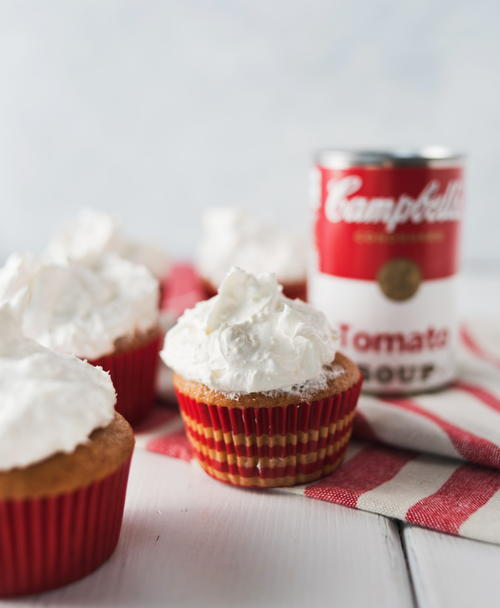 Magic Tomato Soup Cupcakes