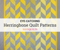 10 Eye-Catching Herringbone Quilt Patterns