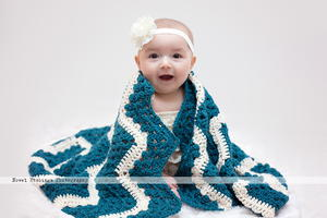 Winter Wonderland Chevron Blanket