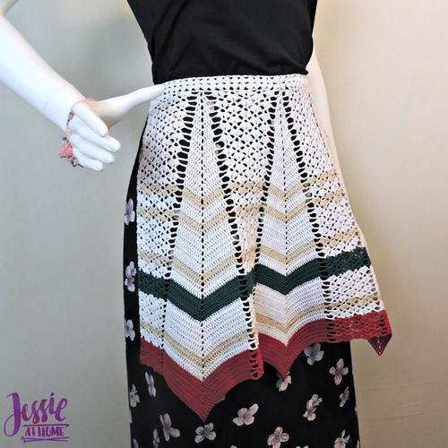 Vintage Crochet PATTERN Dishcloth Apron Potholder Rose
