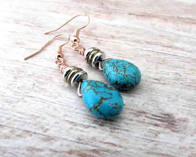 Boho Turquiose Earrings