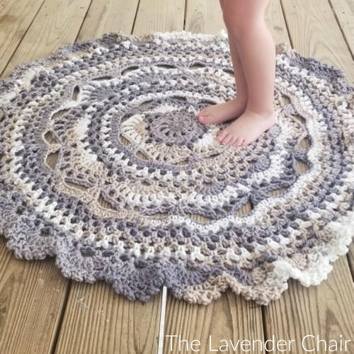 Midnight Star Mandala Rug