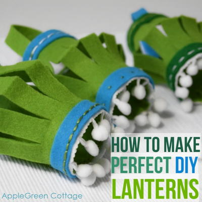 DIY Felt Christmas Lanterns