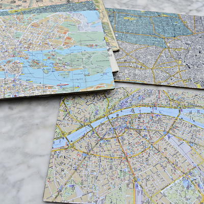 DIY Personalized Map Placemats