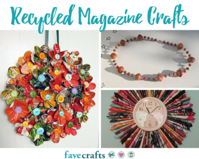 Top 10 Recycled Magazine Crafts