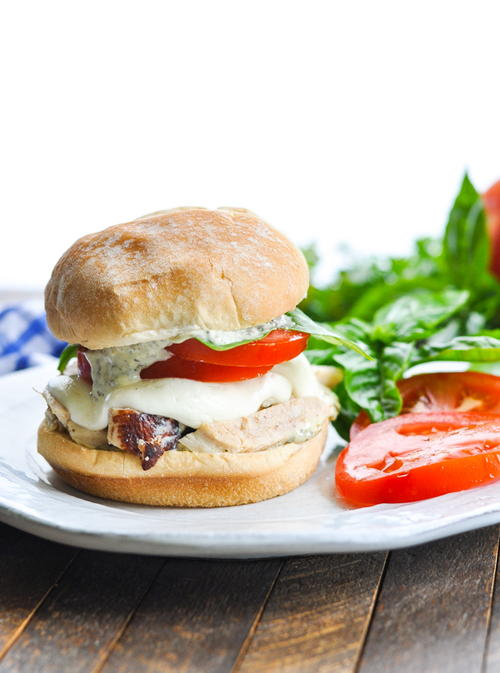 Grilled Chicken Caprese Sandwiches