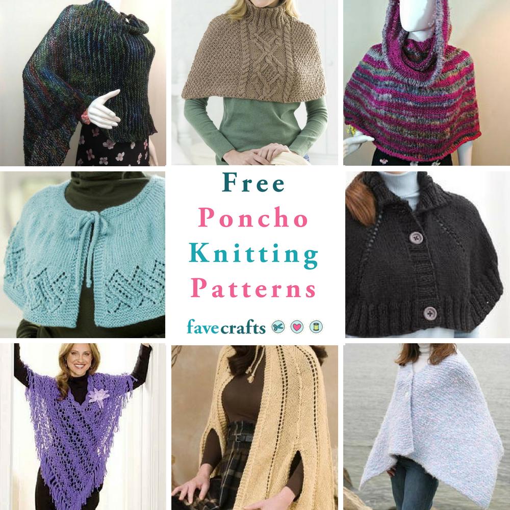 16 Free Poncho Knitting Patterns | FaveCrafts.com