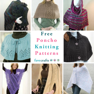 16 Free Poncho Knitting Patterns Favecrafts Com