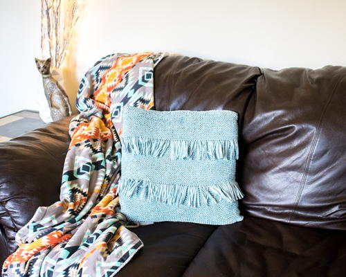 Fringed Throw Pillow