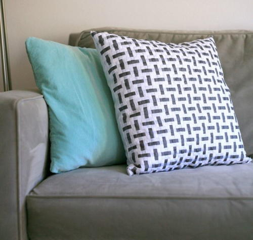 Elegant Woven Ribbon DIY Throw Pillow