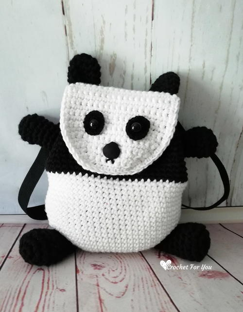 Crochet Panda Backpack