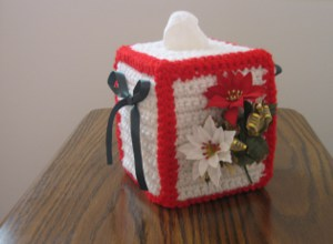 Flower of Christmas Tissue Box Cover