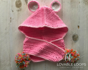 Snuggly Care Bear Hooded Scarf