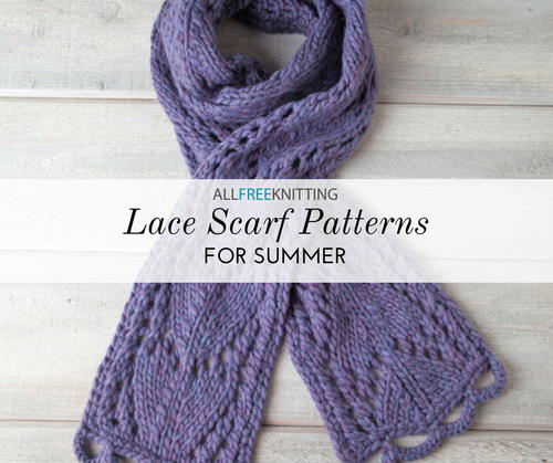 18 Lace Knitting Patterns For Scarves Allfreeknitting Com