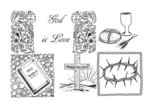 God Is Love Adult Coloring Page