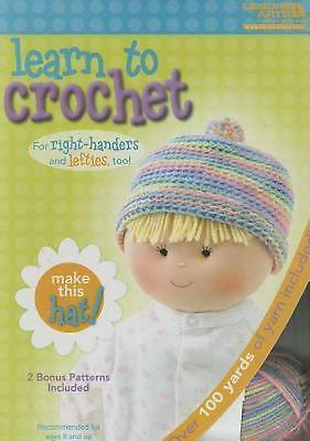 Learn to Crochet Baby Hat Kit