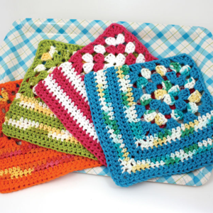 Granny Crochet Dishcloth Pattern