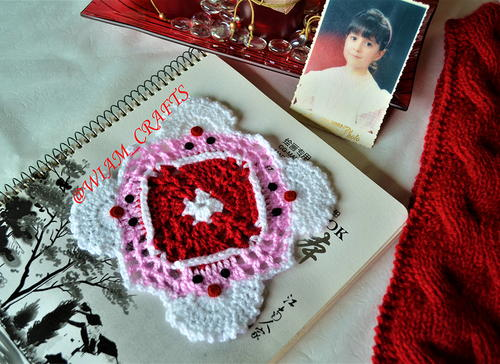Santa Club Crochet Coaster