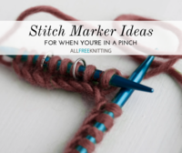 Stitch Markers: 21 DIY Ideas For When You're in a Knitting Pinch
