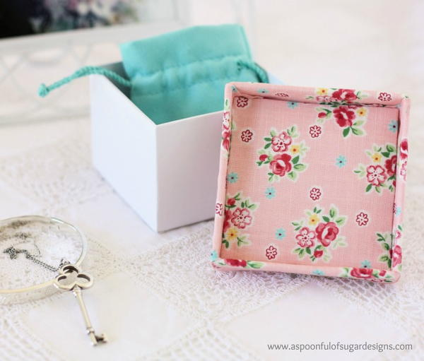 Fabric Covered Jewelry Box