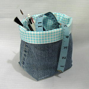 Denim Fabric Basket Tutorial