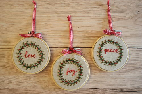 Vintage Christmas Wreath Ornaments