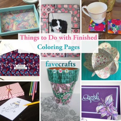 Things to Do with Finished Coloring Pages
