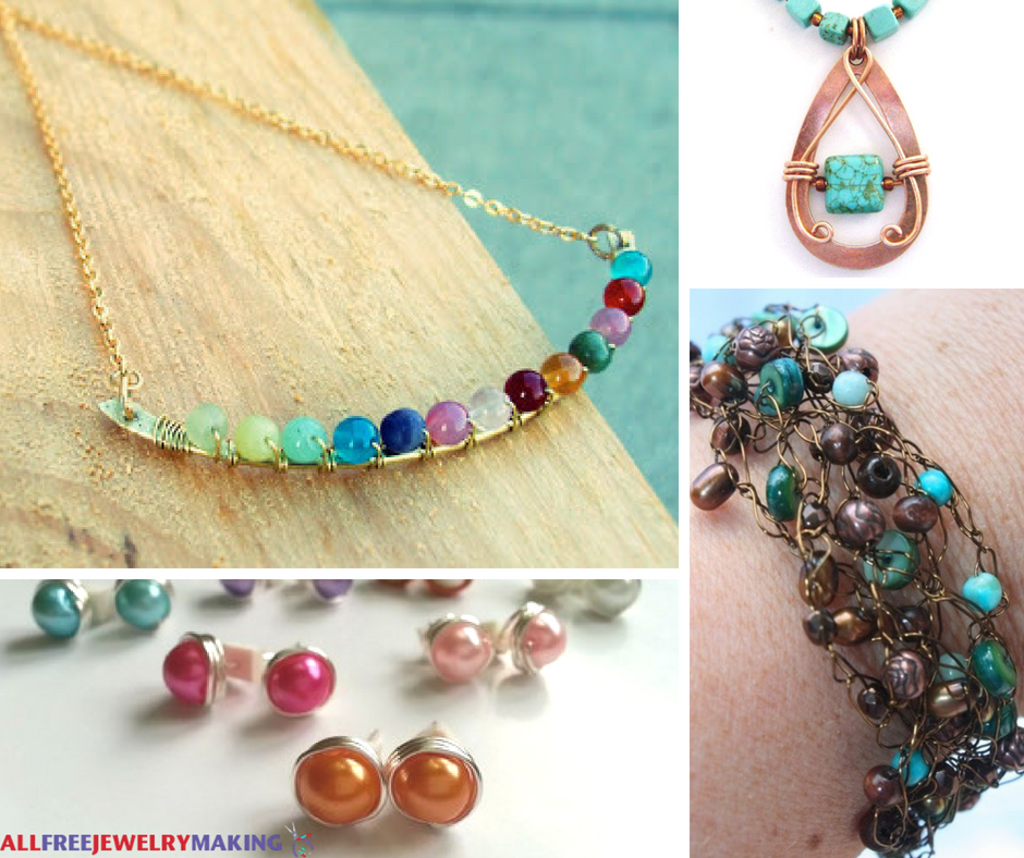 How to make a necklace with beads and wire
