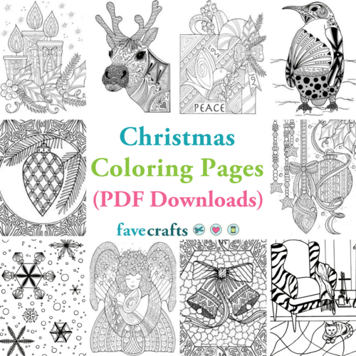 8 Christmas Coloring Pages (Free PDFs)  FaveCrafts.com