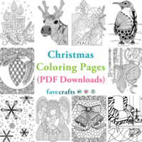18 Christmas Coloring Pages (PDF Downloads)