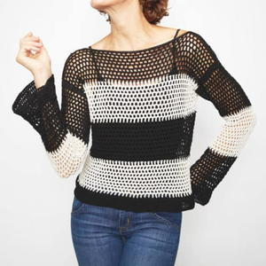Monochrome Tie Sweater Pattern