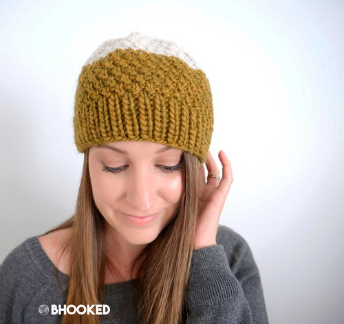 Easy Double Moss Stitch Hat