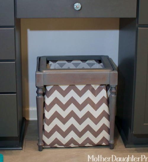 Chic Little Laundry Hamper Makeover