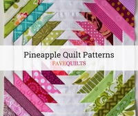 10 Pineapple Quilt Block Patterns