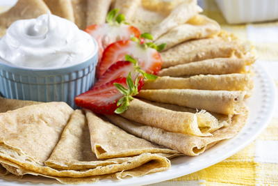 Healthier Homemade Crepes