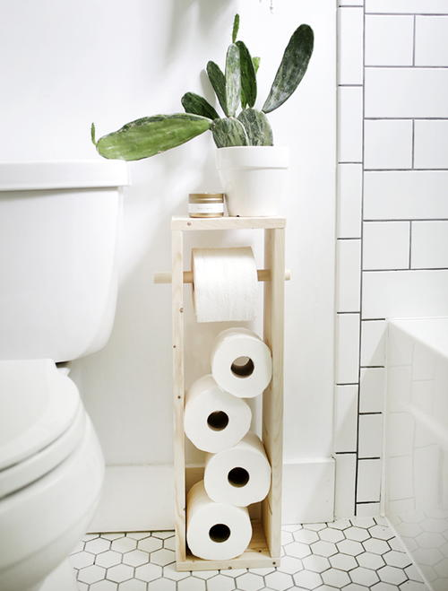 Toilet Paper Storage Tower