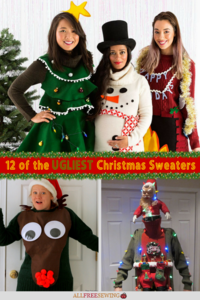 12 of the Ugliest Christmas Sweaters (+ Free Patterns to Make Your Own)