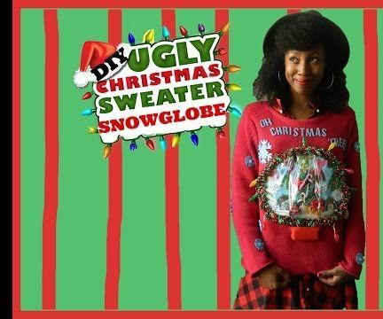 DIY UGLY SNOW GLOBE CHRISTMAS SWEATER