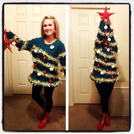 DIY Ugly Christmas Tree Sweater
