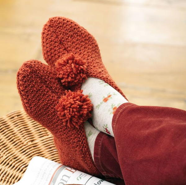 Pumpkin Spice Knit Slipper Pattern