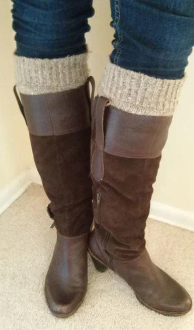 Recycled Sweater DIY Boot Socks
